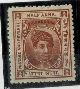 india KISHANGARH I/S 1/2 AS SG43 - mounted mint
