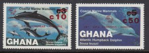 Ghana 918-20 Marine Mammals mnh