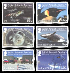 British Antarctic Territory 2016 Scott #516-521 Mint Never Hinged