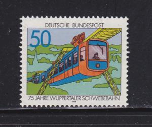 Germany 1210 Set MNH Wuppertal Suspension Train