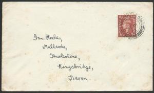 GB 1953 cover EAST ANGLIAN TPO DOWN  railway cancel........................50592