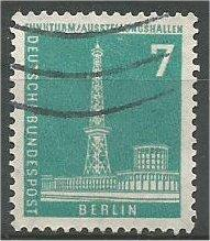 BERLIN, 1956, used 7pf Radio Station Scott 9N123