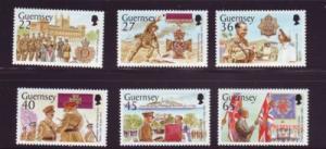 Guernsey Sc 777-82 2002 Le Patourel V.C. stamp set mint NH