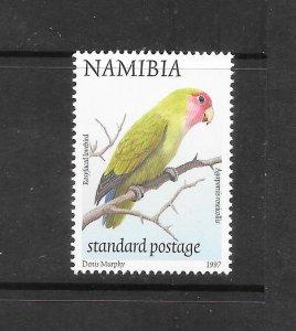 BIRDS - NAMIBIA #858a  ROSY FACED LOVEBIRD  MNH