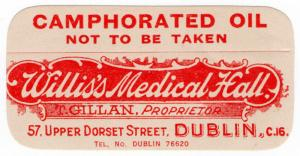 (I.B) Ireland Cinderella : Medicine Label (Camphorated Oil)