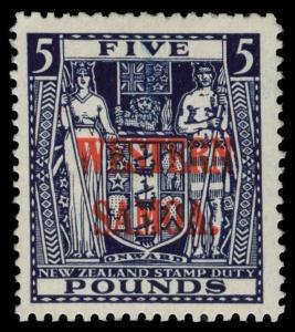 Samoa Scott 176-180 Variety Gibbons 194a-194d Mint Set of Stamps