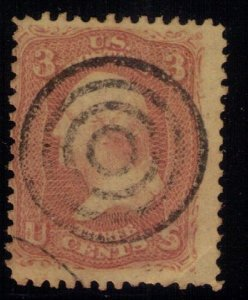 US SCOTT #65 BULLSEYE TARGET CANCELLATION USED F-VF