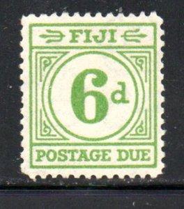 Fiji Sc J17 1940 6d bright green postage due stamp mint