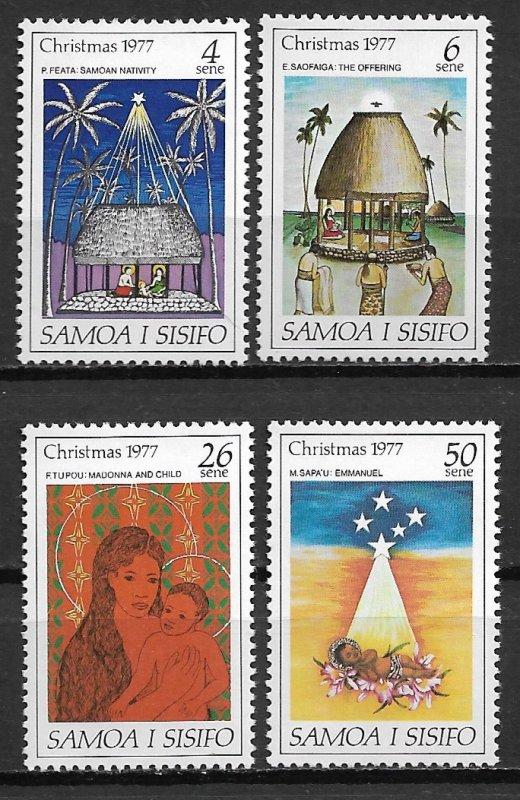Samoa MNH 462-5 Christmas 1977