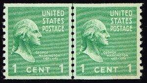 US STAMP #839 – 1939 1c Washington, green MNH LP LOOKS SUPERB GEM 98-100