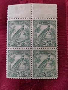 New Guinea 34 XFNH block of 4, CV $60