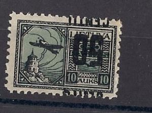 LITHUANIA  C29 INVERTED OVERPRINT MLH