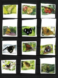 Wholesale Lot Butterflies. Tonga-Niuafo'ou #275-286 Imperf. Cat.54.20