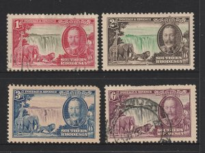 Southern Rhodesia the KGV 1935 Jubilee set