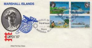 Marshall Islands, First Day Cover, Aviation, Women