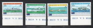 Tristan da Cunha Sc 247-50 1978 Royal Navy Vessels stamp set mint NH