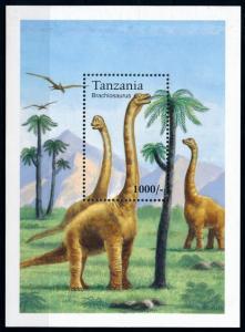 [78543] Tanzania 1994 Prehistoric Animals Dinosaurs Souvenir Sheet MNH