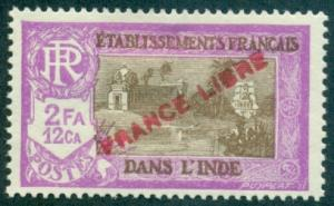 French India #129  Mint  Scott $4.75   Thin
