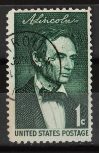 USA 1959 Lincoln Sesquicentennial Issue 1c (1/4) USED