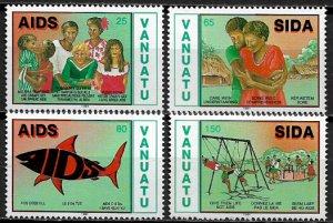 Vanuatu #547-50 MNH Set - Fight Against Aids