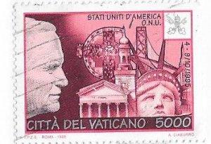 Vatican City #1027  5000l (U) CV$6.75