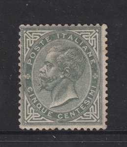Italy a MNG 5c grey from 1863
