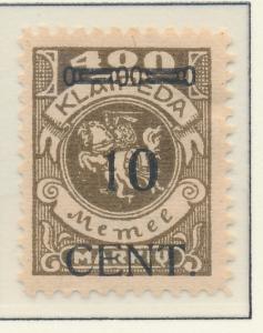 Memel Stamp Scott #N57, Unused, No Gum - Free U.S. Shipping, Free Worldwide S...