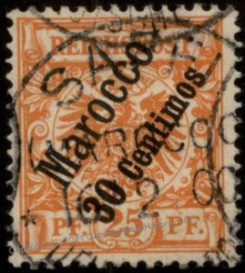 Germany 1899 Morocco Mi5 SAFFI CDS 1st Issue Used 102439