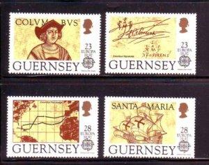 Guernsey Sc 467-70 1992 Europa Columbus stamp set mint NH