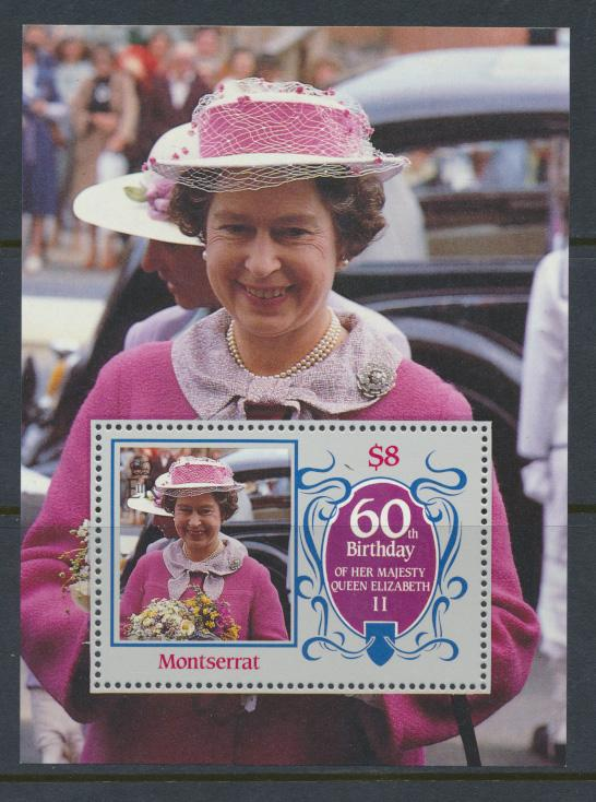 Montserrat  SG MS681  SC#604  60th Birthday Queen Elizabeth II - 1986