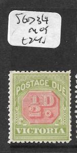 VICTORIA   (PP2709B) POSTAGE DUE1/2D  SG D34  MOG