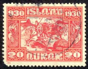 Iceland Sc# 157 Used 1930 20a Definitives
