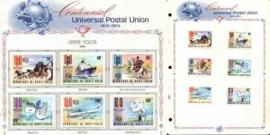 1974 UPPER VOLTA UPU on pages - many scarce & rare issues!