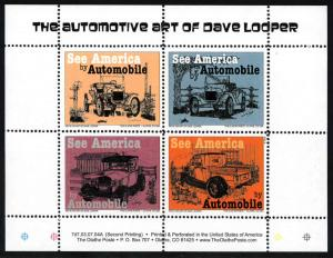 See America by Automobile Mini Sheetlet - Cinderella - MNH