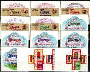 Tonga #337-41, C154-8, CO87-9 F-VF Used CV $14.55 (X5757)
