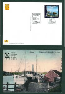 Aland. Postcard 2005. Ship,Steamer. Mare Balticum 05. 2 Kl. Stamp.