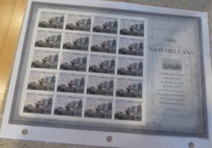 #4952 sheet Battle of New Orleans