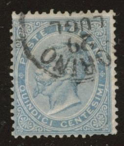ITALY Scott 29 Used 15c blue