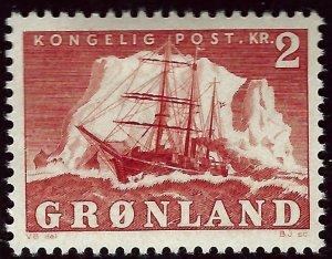 Greenland SC#37  Mint OG VF SCV$8.00...Nice!