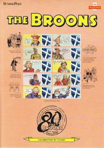 BC-490 GB 2016 The Broons Smiler sheet complete with sleeve UNMOUNTED MINT