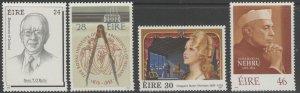IRELAND SG728/31 1989 ANNIVERSARIES & COMMEMORATIONS MNH