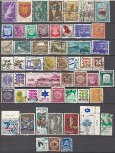 COLLECTION LOT OF # 1731 ISRAEL 54 STAMPS 1951+