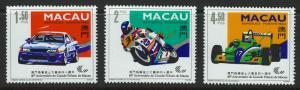 Macau Scott 715-717! Racing! MNH!