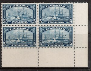 Canada #204 Very Fine Never Hinged LR Plate Block Blank As Issued