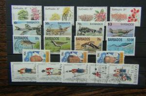 Barbados 1992 Trees 1993 RAF 1994 Birds Caribbean 1995 Regiment sets Used