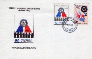 Dominican Republic 1993 Sc#1138/1139 ROTARY INTERNATIONAL Set (2) FDC