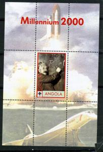 ANGOLA 2000 Einstein Space Concorde Millennium s/s Perforated mnh.vf