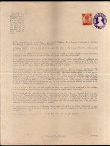 India 1943 3As KG VI Airgraph Letter Sheet Postal Stationery Unused # 10630