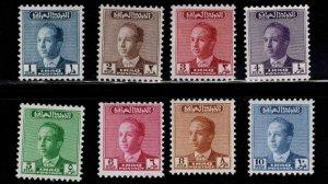 IRAQ Scott 174-180 MH* King Faisal II stamp set
