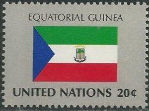 United Nations 353 New York Equatoria Guinea Flag 20c single MNH 1981